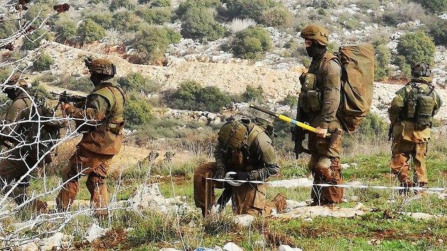 Tropas de las FDI que operan en el enclave israelí