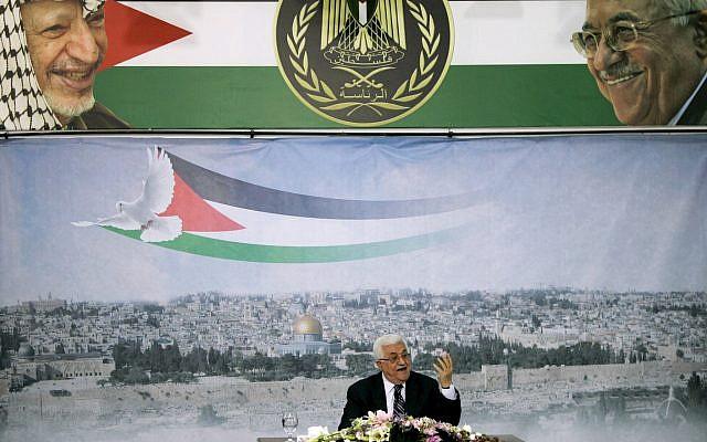 El presidente de la Autoridad Palestina, Abbas, en Ramallah, el 16 de septiembre de 2011. Abbas acaba de anunciar que solicitará al Consejo de Seguridad que acepte a los palestinos como miembros de pleno derecho en la ONU (AP Photo / Majdi Mohammed)