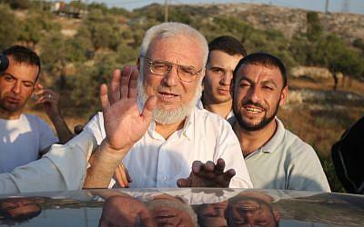 El presidente del parlamento palestino, Aziz Dweik. (Issam Rimawi / Flash90)