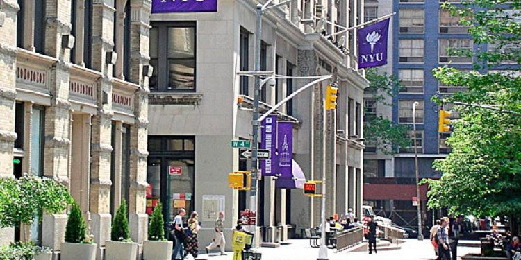 Campus de la Universidad de Nueva York en Greenwich Village. Crédito: Wikimedia Commons.