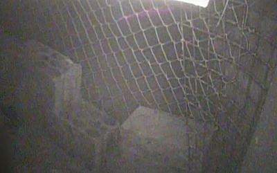 El interior de lo que Israel dice es un túnel de ataque excavado por el grupo terrorista Hezbolá que cruzó el territorio israelí desde el sur del Líbano, a partir de imágenes publicadas por los militares el 18 de diciembre de 2018. (Fuerzas de Defensa de Israel)