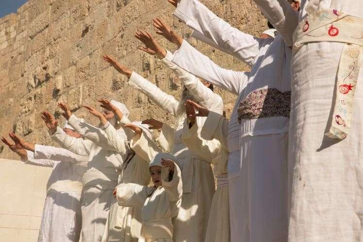 Activistas para la reconstrucción del ritual de conducta del Templo, Jerusalén, 10 de diciembre de 2018. Olivier Fitoussi