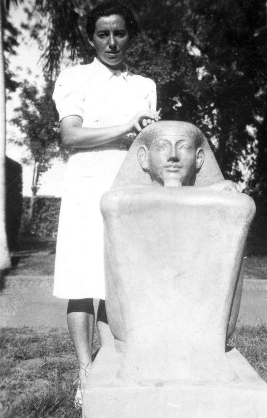 Haviva Reik en Egipto, 1944. Foto: Rafael Reiss, la Colección Bitmuna. Colección Bitmuna