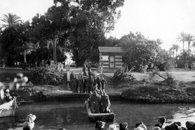La base donde Rudi Goldstein sirvió en Egipto, 1942. Foto: Dr. Rudy Goldstein. La colección de bitmuna
