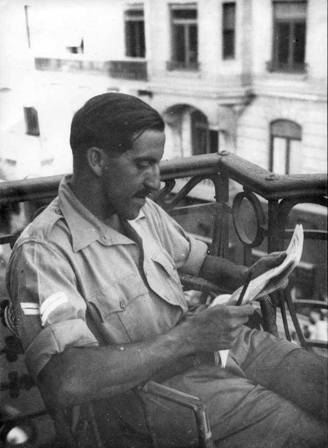 Rafael Reiss en Egipto, 1944. La colección Bitmuna.