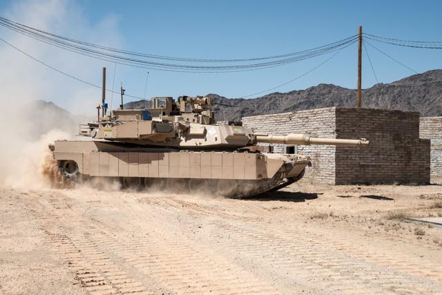 TROPHY de Rafael en US Abrams 1. (Crédito de la foto: RAFAEL ADVANCED ADVANCED DEFENSE SYSTEMS)