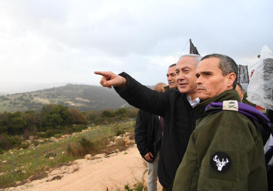 Netanyahu supervisa Opeartion Northern Shield el 13 de enero de 2019. (Crédito de foto: GPO)