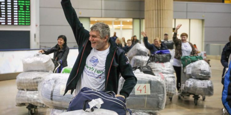 Los judíos ucranianos llegan a Israel. (Crédito de la foto: IFCJ)