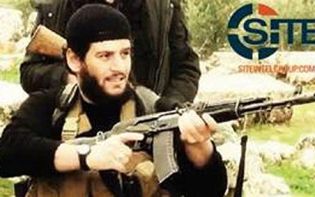 Abu Muhammed al-Adnani, el número 2 del Estado Islámico que murió en un ataque de un avión no tripulado de EE. UU. En el norte de Siria en agosto de 2016. Adnani fue el portavoz y estratega jefe de IS, quien presentó el plan para los ataques del grupo jihadista contra Occidente. (SITE Grupo Intel a través de AP)