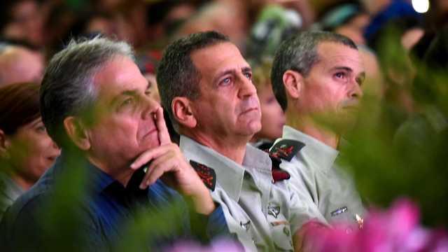El Jefe de Estado Mayor de las FDI, el mayor general Aviv Kochavi, asiste a la ceremonia que marca el 22 aniversario del desastre del helicóptero, el 30 de enero de 2019.