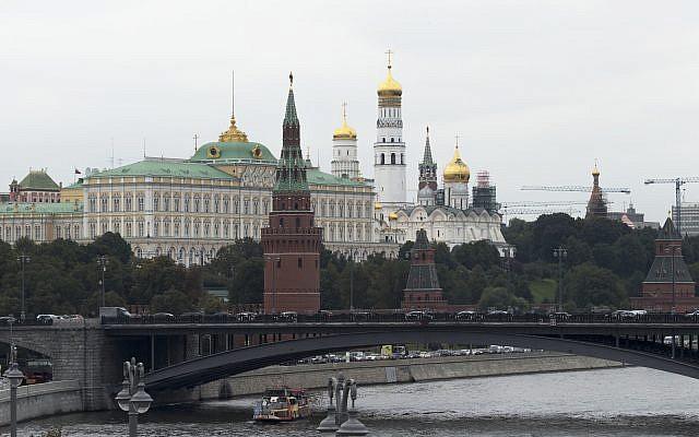 El Kremlin en Moscú, 29 de septiembre de 2017. (Ivan Sekretarev / AP)