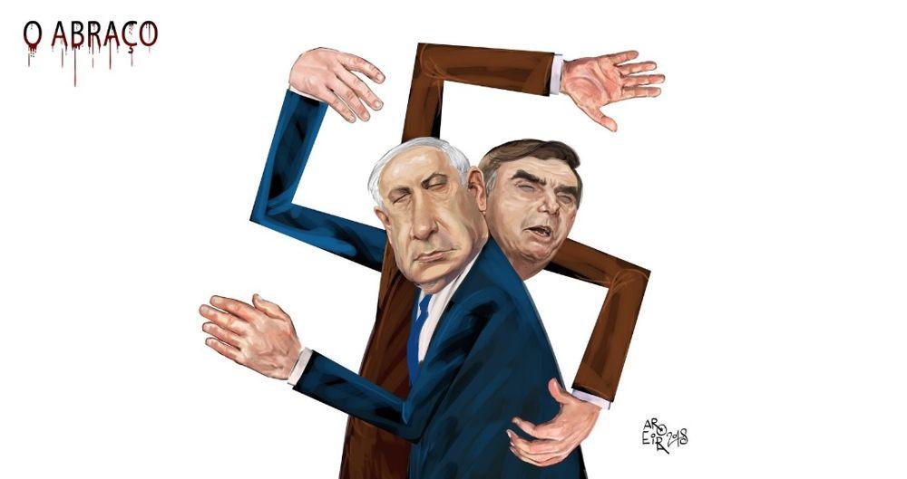 "Judíos de Brasil demandan a caricaturista por dibujo del ""abrazo nazi"""