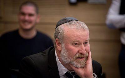 El fiscal general Avichai Mandelblit asiste a una reunión del Comité de Control del Estado de la Knesset el 3 de diciembre de 2018. (Miriam Alster / Flash90)