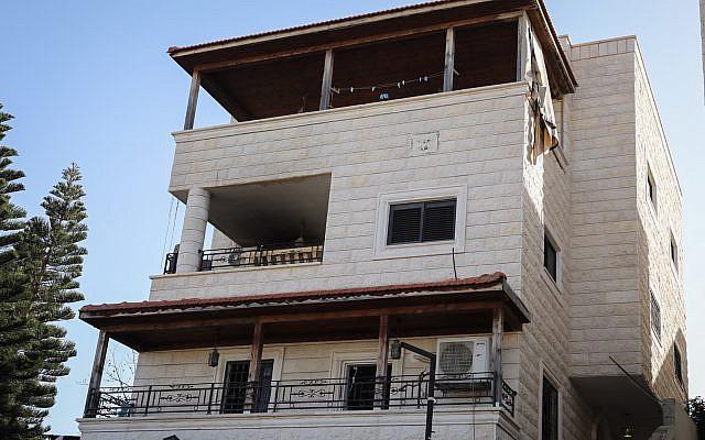 Vista de la casa donde murieron dos niños pequeños en un incendio, Kafr Kassem, 25 de enero de 2019 (Flash90)