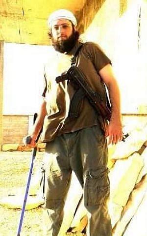 Yahya al-Bahrumi, fotografiado después de ser herido en Siria (Cortesía)