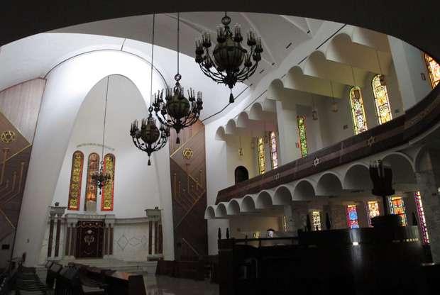 Gran Sinagoga Tiféret Israel, la sinagoga más antigua de Caracas, en el diminuto barrio central de Mariperez.