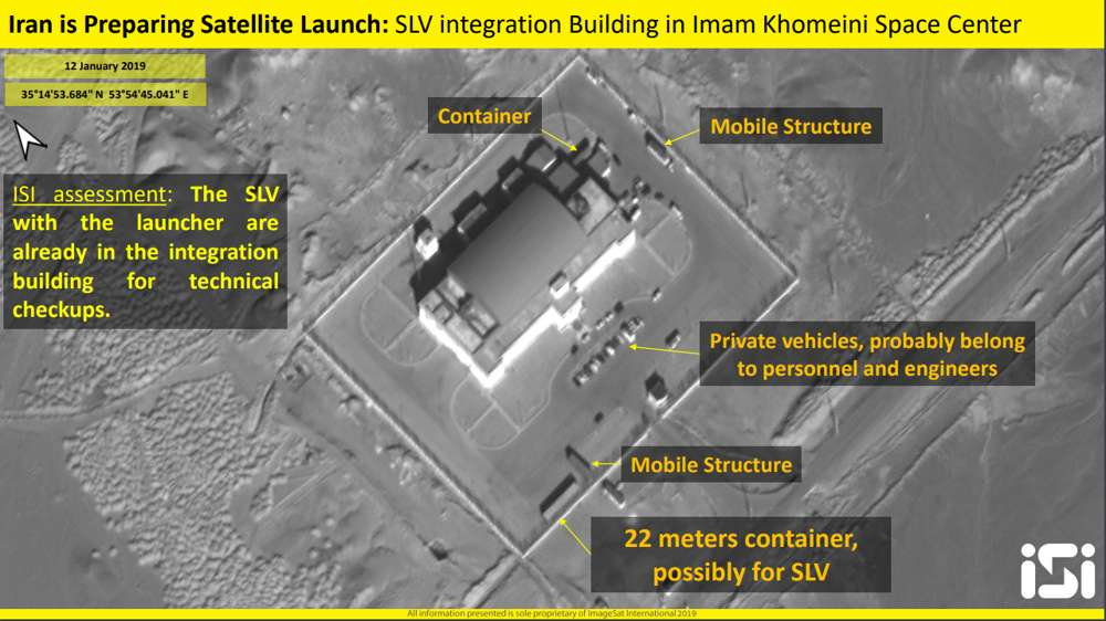 Fotografías satelitales revelan que Irán se prepara para lanzar dos satélites al espacio