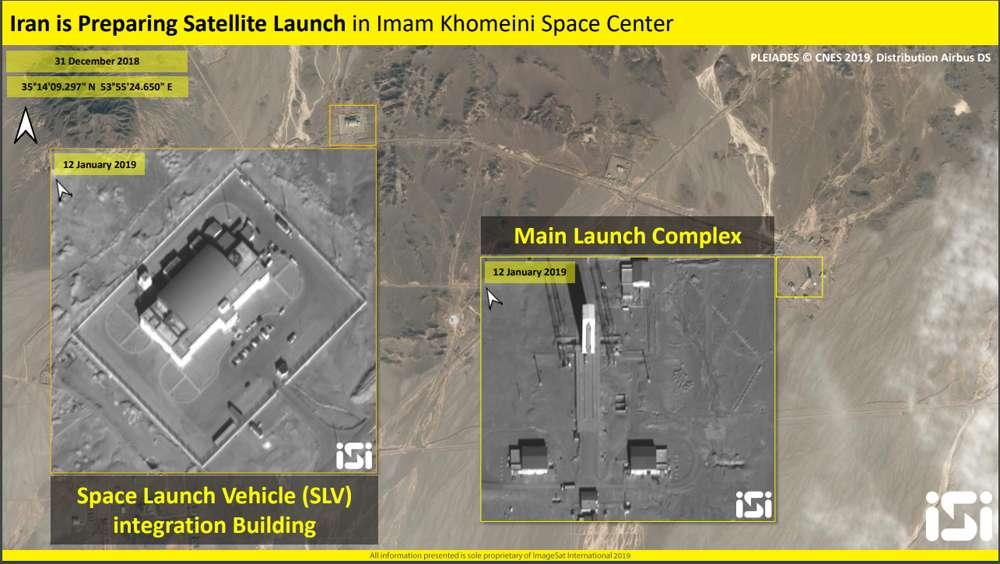 Documentación del puerto espacial iraní (Foto: ImagetSat International - ISI)