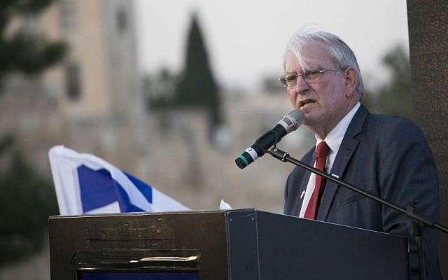 Marc Zell, el jefe de Republicans Overseas Israel, en un evento en Jerusalem, 26 de octubre de 2016. (Yonatan Sindel / Flash 90)