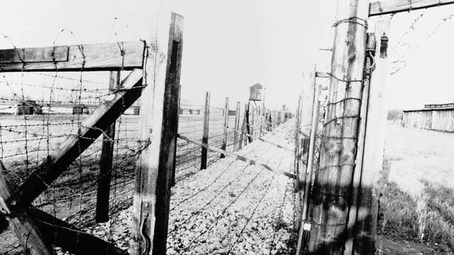 Los restos del campo de exterminio de Majdenek, en las afueras de Lublin, tomados en 1978 (Foto: AFP)