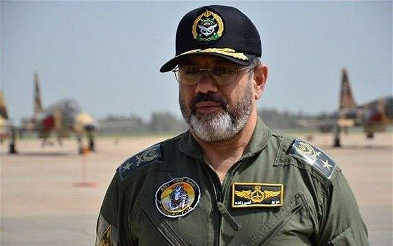 El jefe de la fuerza aérea iraní, brig. general Aziz Nasirzadeh, en una fotografía sin fecha.(Fuerza Aérea Iraní)