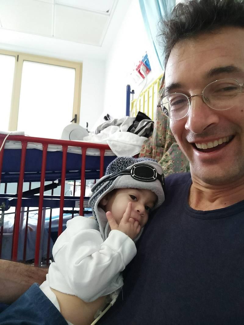 Noam Baumatz y su hija, Noga.(Cortesía)