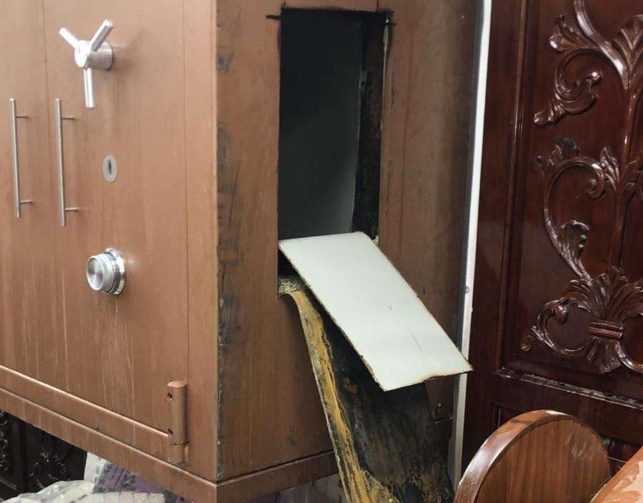 Sinagoga destrozada en Jerusalem, 29 de enero de 2019 (Unidad de Portavoces de la Policía)