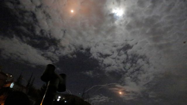 Ataque de la IAF durante la noche del lunes en Siria(Foto: EPA)