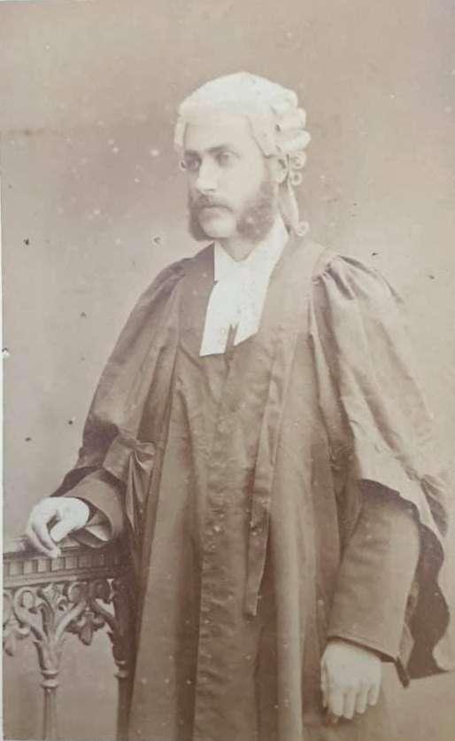 George Marcus Wansbeck Hill (sobrino nieto de Jane Austen, hijo de su sobrina Louisa) era un abogado.(Renee Ghert-Zand / The Times of Israel, © Karen Ievers)