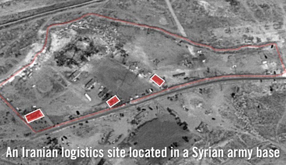 Las imágenes satelitales publicadas por las FDI de lo que dice son instalaciones iraníes dentro de una base del ejército sirio cerca de Damasco, que fueron destruidas en un ataque aéreo israelí el 21 de enero de 2019. (Fuerzas de Defensa de Israel)