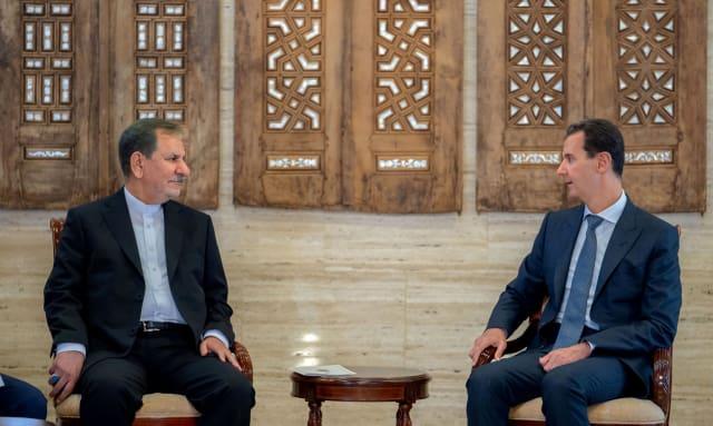 Foto del archivo: el vicepresidente iraní Eshaq Jahangiri se reúne con el presidente de Siria, Bashar Assad, en Damasco, Siria, el 29 de enero de 2019. - SANA / Folleto a través de Reuters