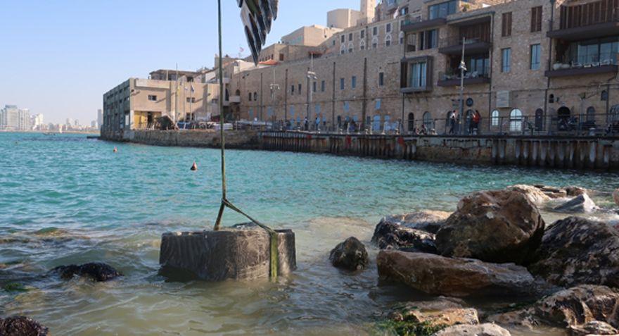 Instalación de las piscinas de marea de ECOncrete en Jaffa a principios de esta semana. De archivo: ECOncrete