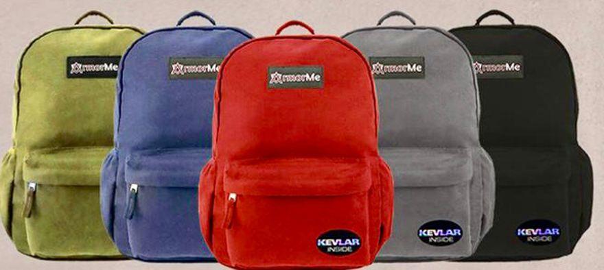 Las mochilas de armorMe. Foto: ArmorMe