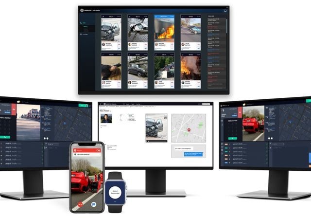 La plataforma de emergencia de alta tecnología Carbyne. Foto: Carbyne
