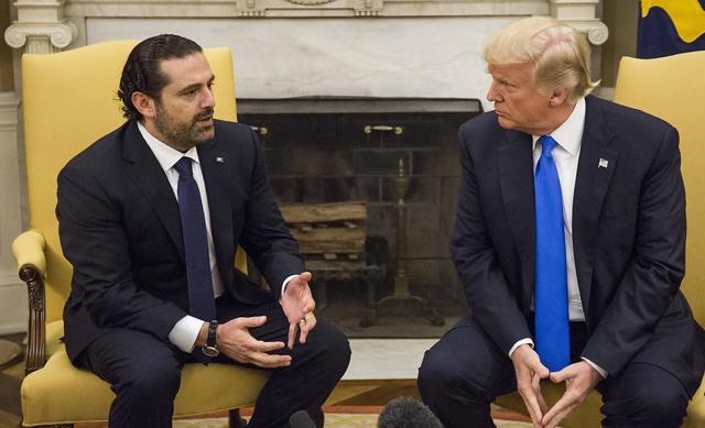 El primer ministro libanés Saad Hariri y Donald Trump en la Casa Blanca (Foto: MCT) (Foto: MCT)