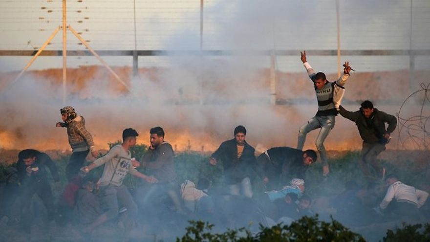 Alborotos en la frontera de Gaza (Foto: Reuters)