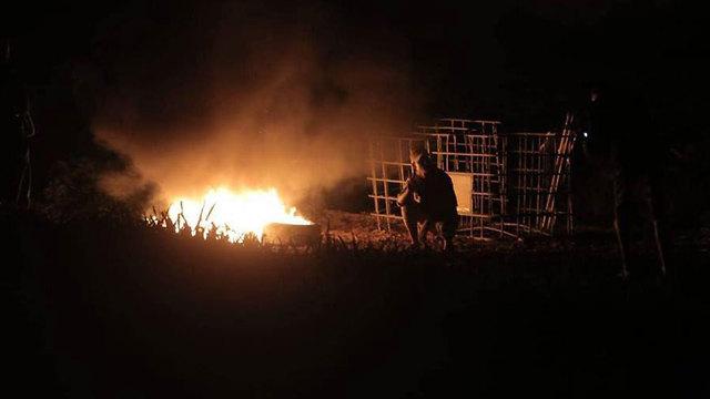 Choques nocturnos al este de Jabalia
