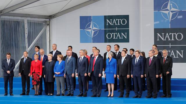 Líderes de los países miembros de la OTAN en una cumbre de 2018. La alianza está preocupada por las actividades submarinas de Rusia (Reuters)