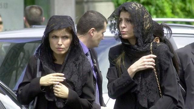 El funeral de la princesa Leila en París, junio de 2001 (Foto: AP)