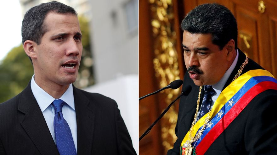 El líder opositor Juan Guaidó y el presidnte venezolano Nicolás Maduro (Reuters)