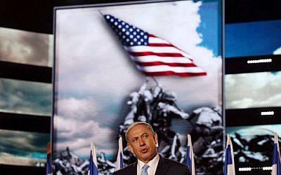 benajamin netanyahu en ceremonia
