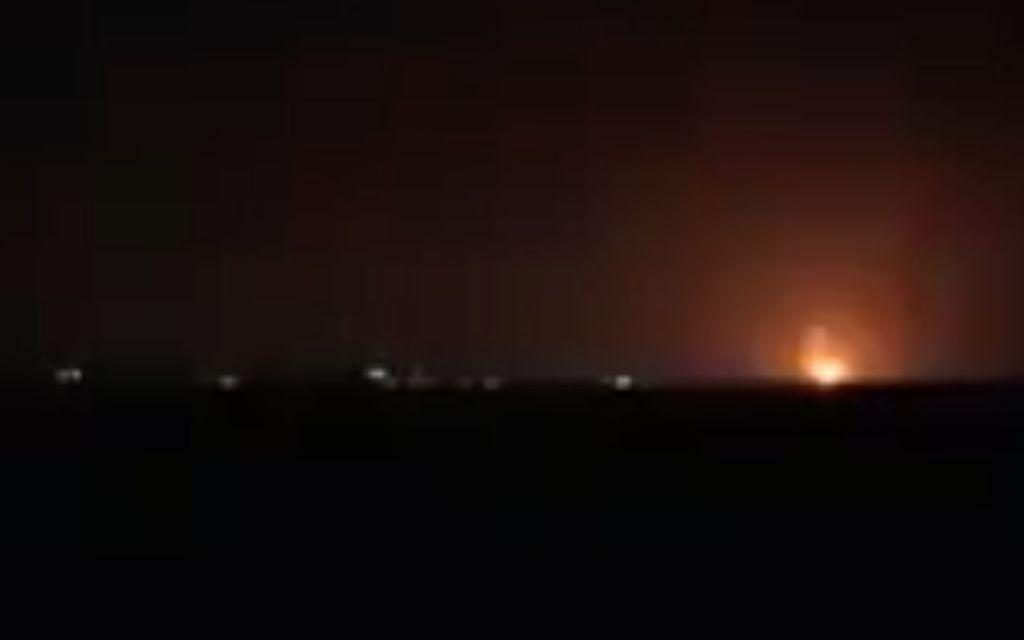 explosion gaza
