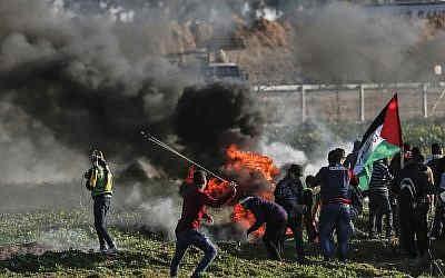 manifestantes palestinos 1
