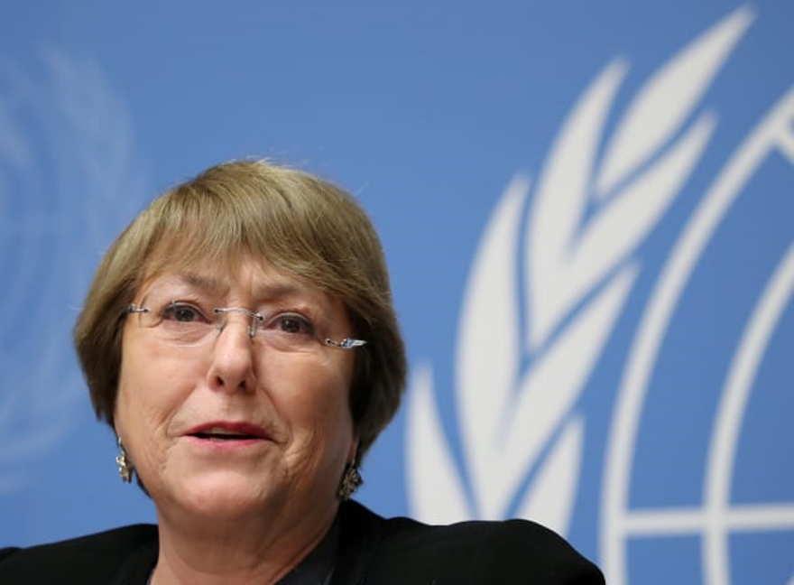 La Alta Comisionada de las Naciones Unidas para los Derechos Humanos, Michelle Bachelet, asiste a una conferencia de prensa en las Naciones Unidas en Ginebra, Suiza, el 5 de diciembre de 2018. Denis Balibouse / Reuters