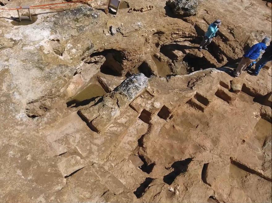 magen aérea del sitio de la era Hasmonea que se está excavando en el barrio Sharafat de Jerusalem. (Shai Halevi, Autoridad de Antigüedades de Israel)