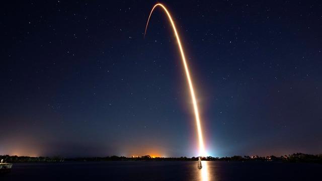 La nave espacial Beresheet durante el lanzamiento en Florida (Foto: spaceX)