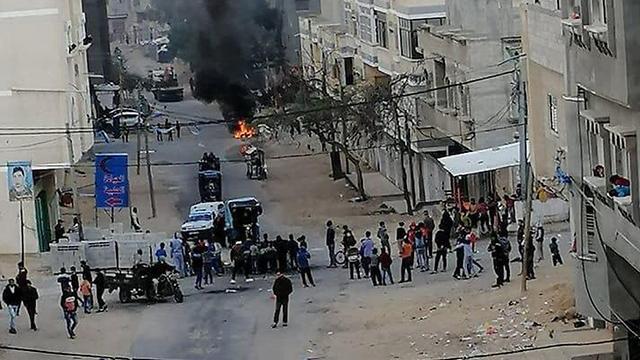 Manifestaciones antigubernamentales en Gaza