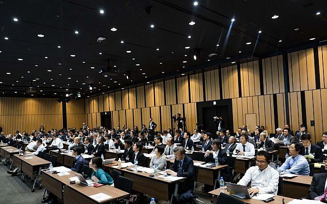 La Cumbre de Israel en Japón, que tuvo lugar en Tokio en noviembre de 2018, fue organizada por Million Steps para impulsar la colaboración entre nuevas empresas israelíes y empresas manufactureras japonesas (Cortesía)
