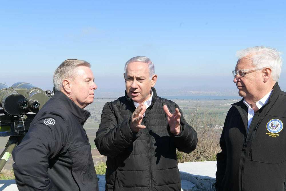 Graham, aliado de Trump dice que presionará a la Casa Blanca para reconocimiento del Golán