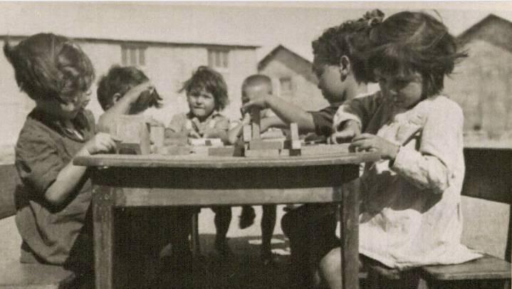 Niños en el campamento de Rivesaltes durante la Segunda Guerra Mundial.(Cortesía de Midas Films)